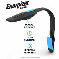 Energizer Clip on Book Light for Reading in Bed, LED Reading Light for Books and Kindles