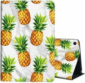 AIRWEE Fire HD 10 Case (7th & 9th Generation), Yellow Pineapple