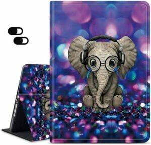 Dikoer Fire HD 10 Case (7th & 10th Generation), Elephant