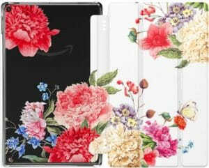 Moko Fire HD 10 Case (7th & 9th Generation), Flowers Blossom